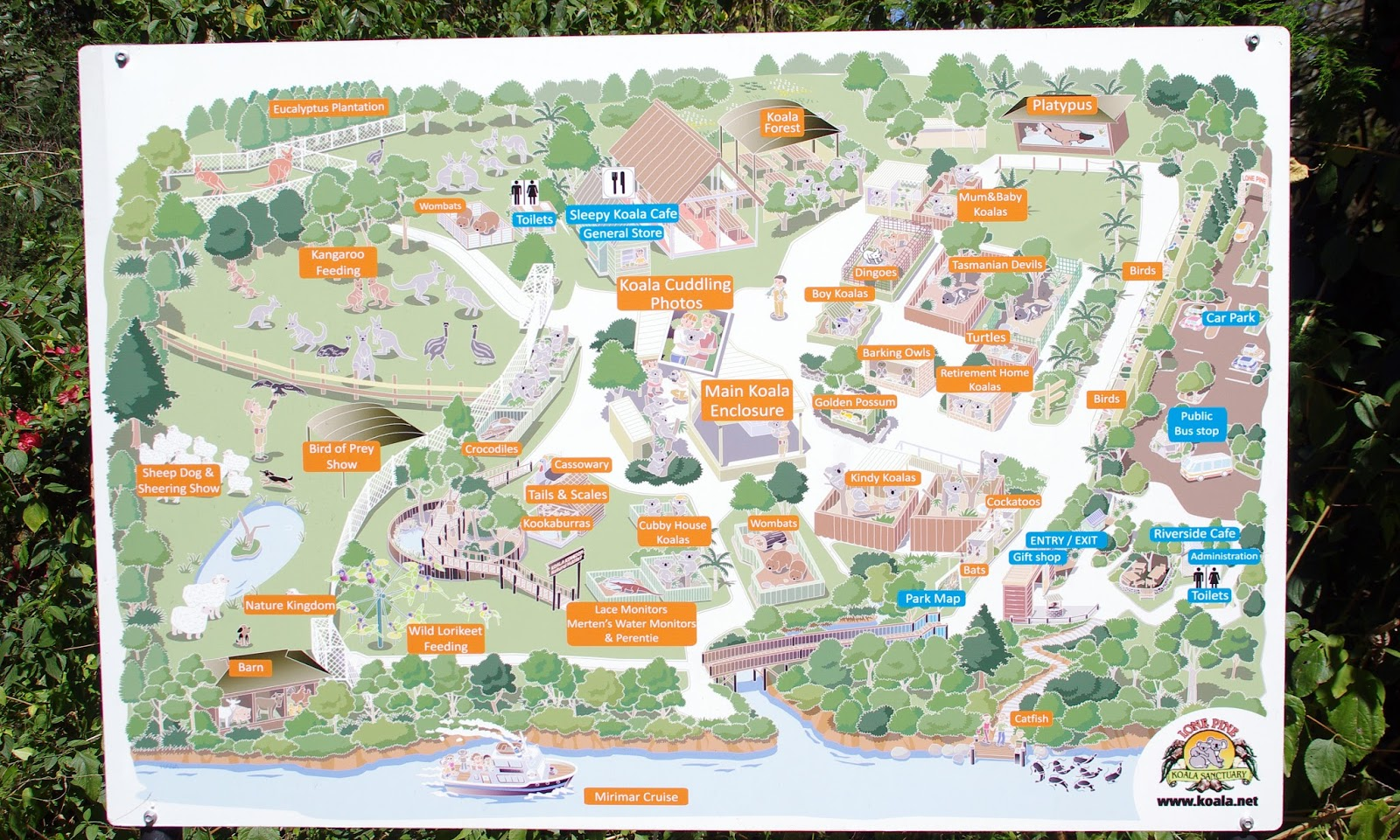 Lone Pine Koala Sanctuary Map