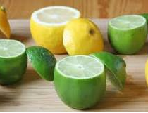 nutritional content of lime and lemon