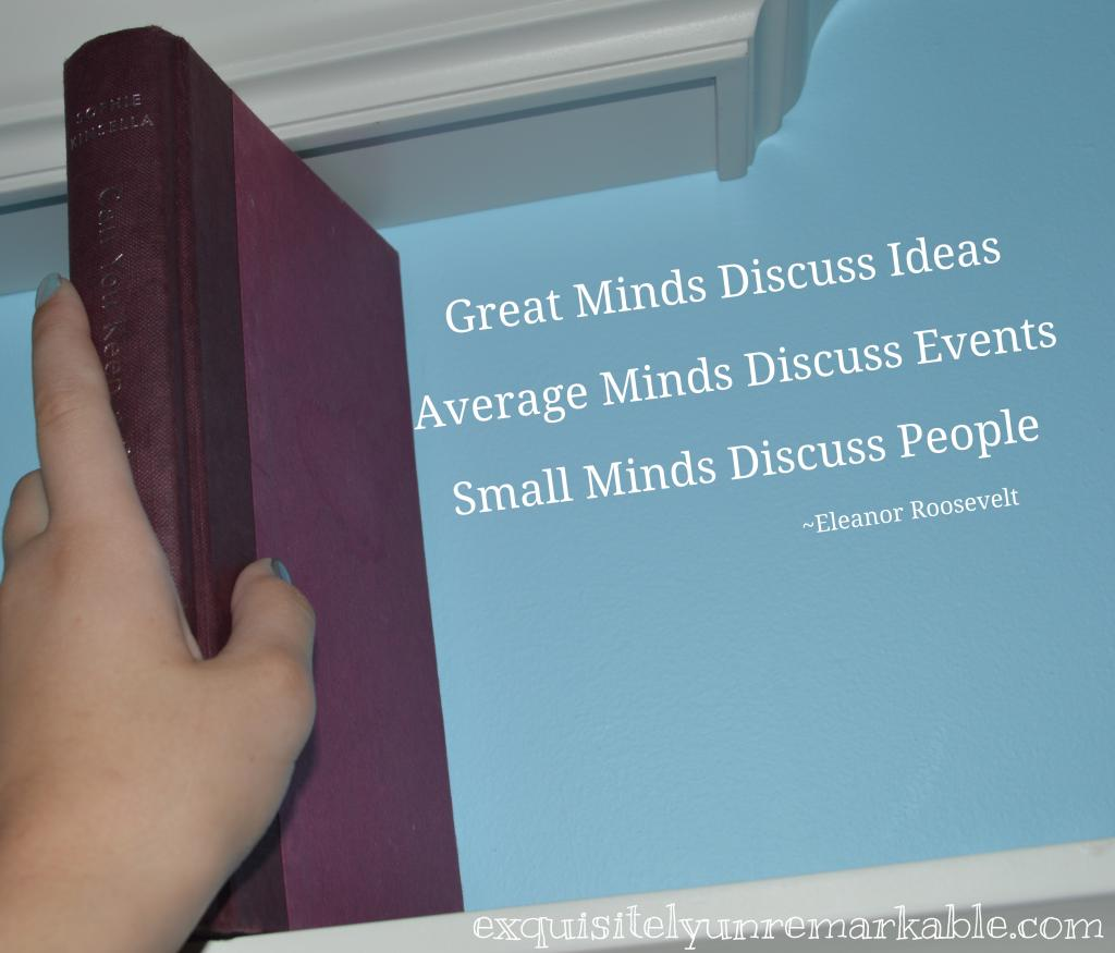 Great Minds Discuss More Than Gossip