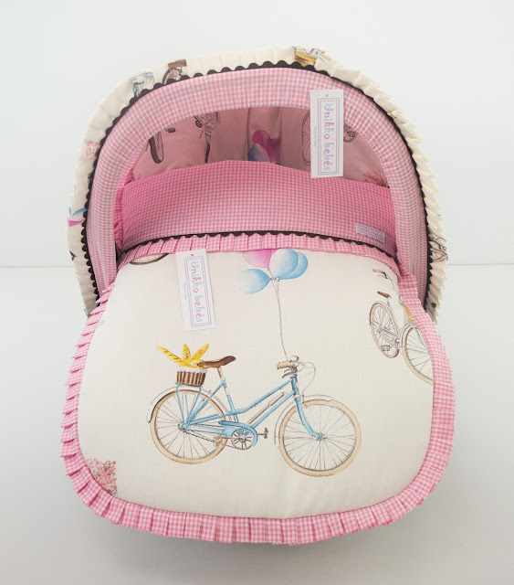 saquito grupo 0 bicicletas rosa chocolate
