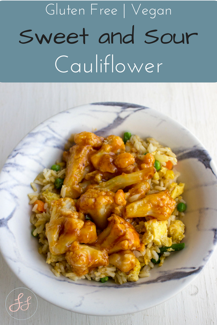 Gluten Free and Vegan Sweet and Sour Cauliflower