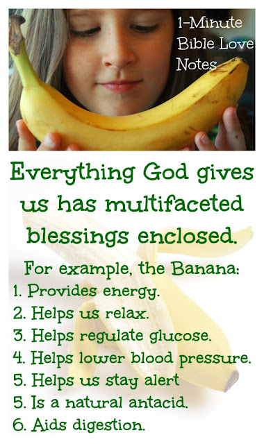Peeling Back the Blessings in Life - They're Everywhere! - Even in the Banana