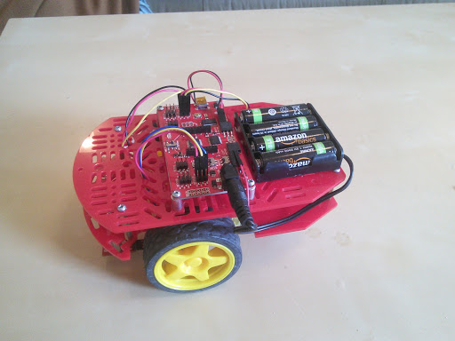 Bluetooth controlled Redbot construction