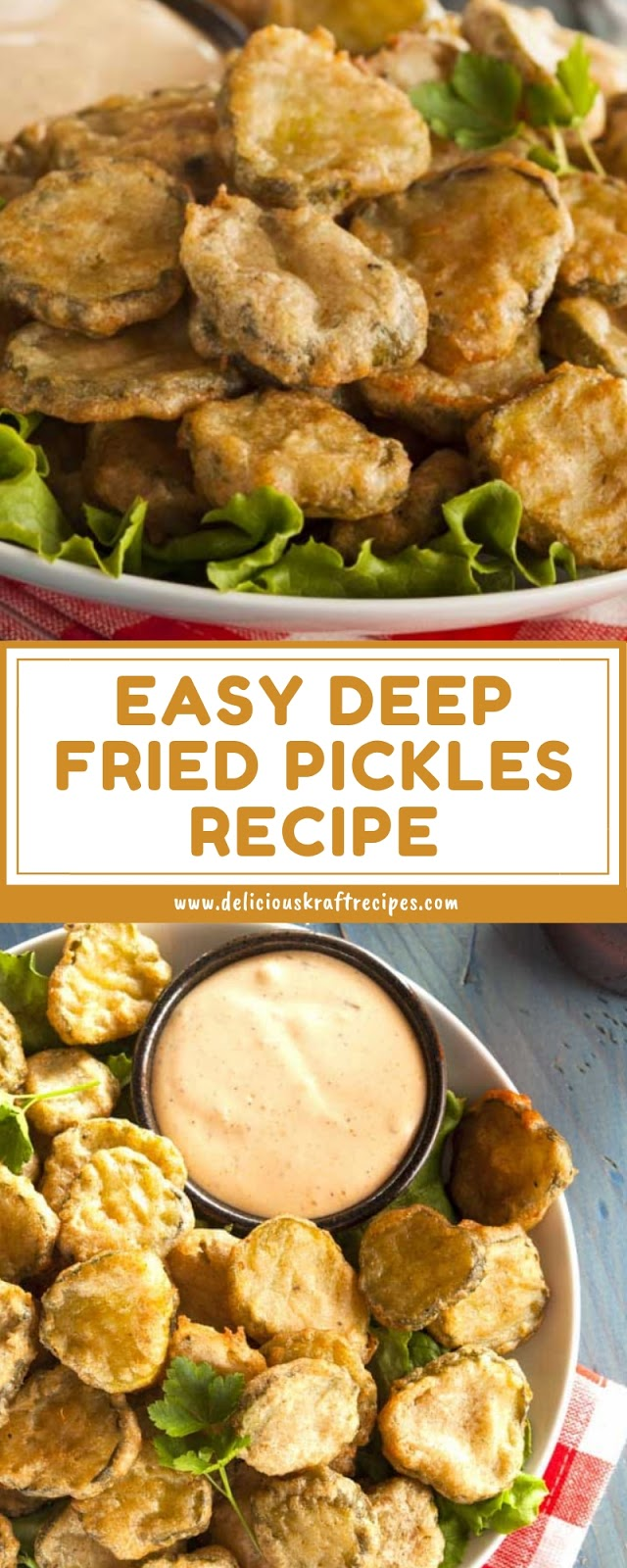 EASY DEEP FRIED PICKLES RECIPE