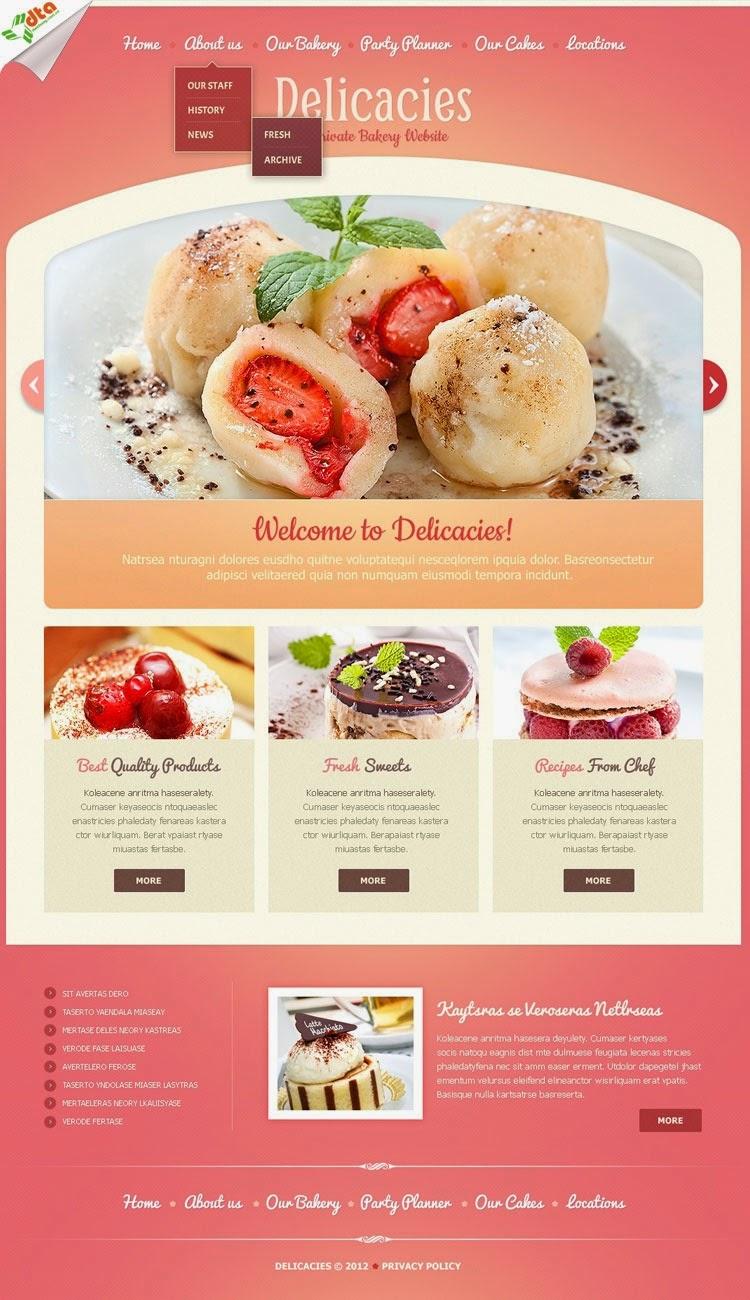 thiết kế web bán hàng bánh pizza đẹp