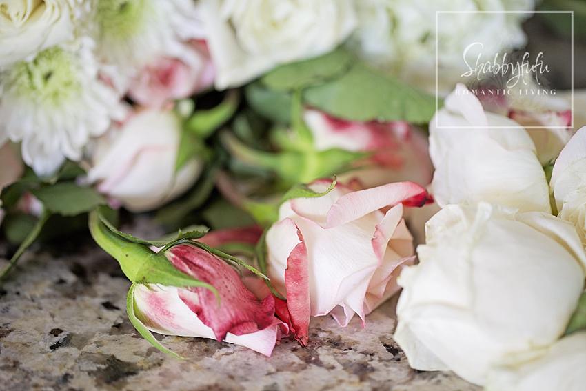 pink roses or silk pink roses