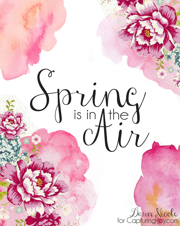Pink spring printable