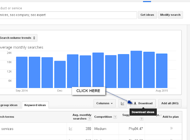 download - google keyword planner