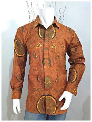 Kemeja Batik Pria Sogan Motif Batik Solo