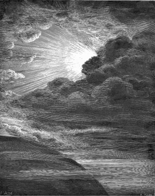 #PraCegoVer: A Criação da Luz, pintura de Gustave Doré, como descrito na Gênesis.