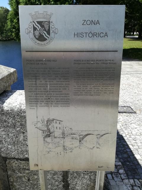 Placa Ponte sobre o Rio Vez