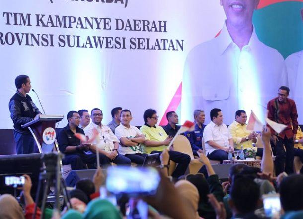 Tak Yakin Menang, Jokowi Tanya Ketua TKD Sulsel: Targetnya Berapa Sih di Sini?