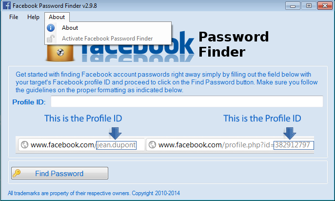2011 facebook password finder v.2.6.5