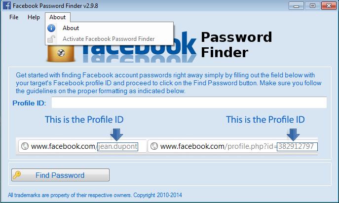 2011 Facebook Password Finder V.2.6.5