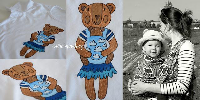 týden nošení dětí- malované tričko