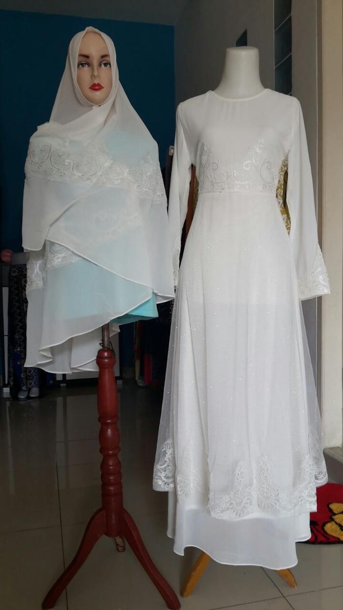 Baju Gamis Terbaru Warna Putih