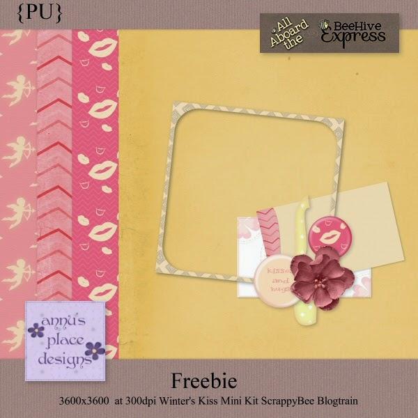 A Winter Kiss BlogTrain Freebie Mini Kit