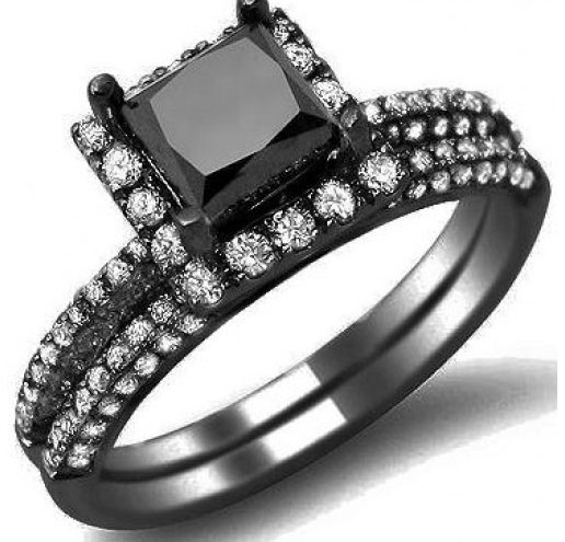 245ct black diamond engagement ring vintage style review