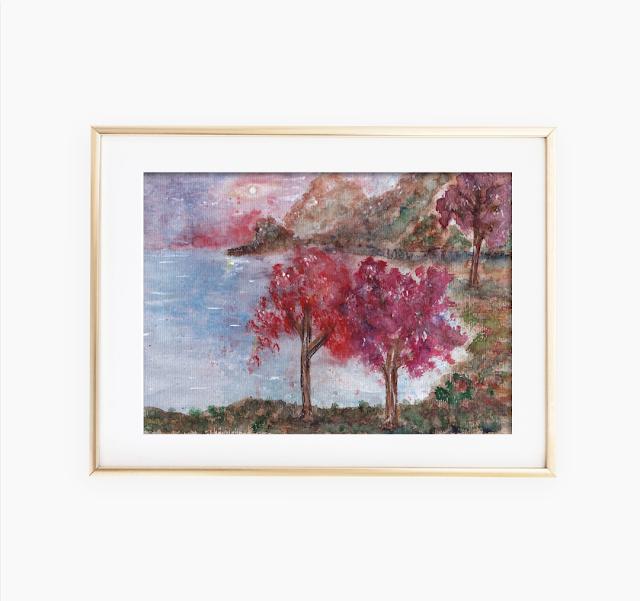 landscape painting art print