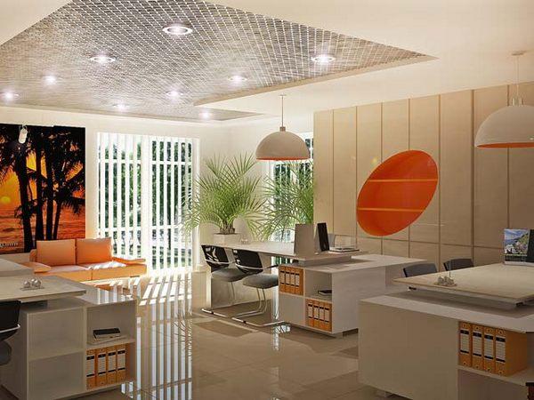 interior design of travel agency office