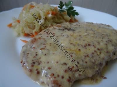 Filet w kurczaka w sosie musztardowym