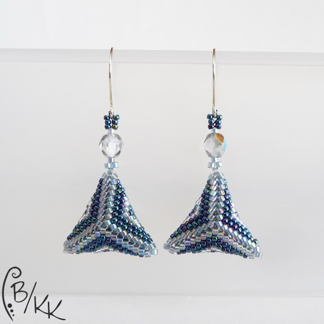 kolczyki peyote trójkąty | peyote triangle earrings