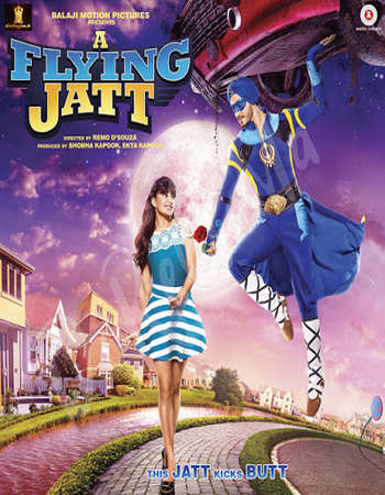 Poster Of A Flying Jatt 2016 Hindi 500MB DVDScr 720p ESubs HEVC Watch Online Free Download Worldfree4u