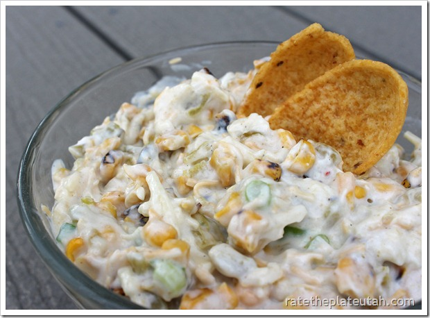 Grilled Corn & Green Chili Dip