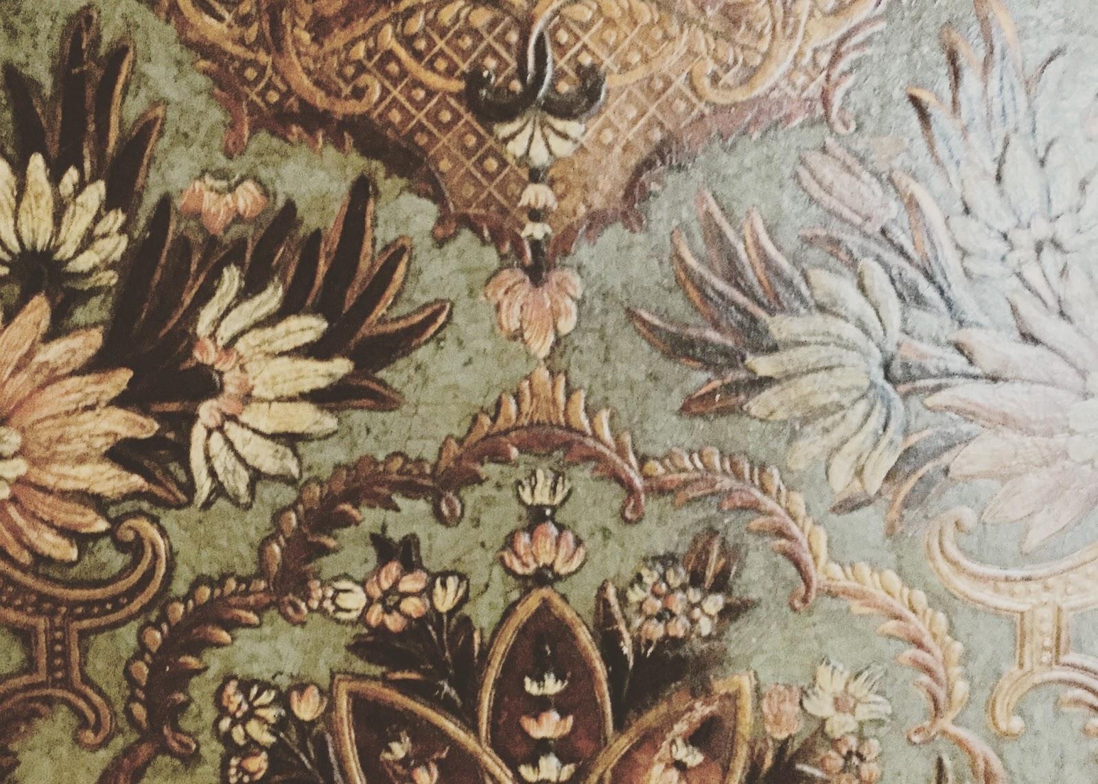 Vintage floral pattern cabinet