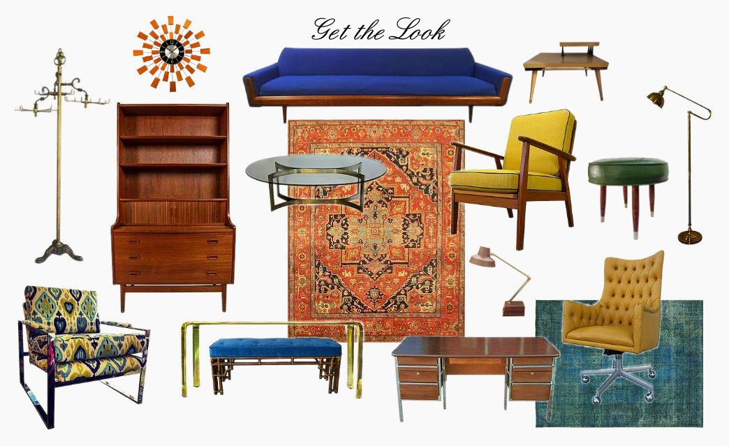 mid century modern design mad men furniture