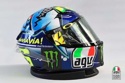 Helm AGV desain khusus Valentino Rossi