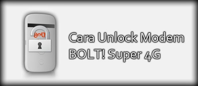 Cara Mudah Unlock Modem BOLT 4G ZTE MF90