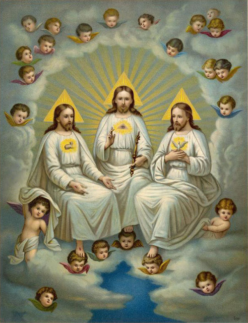 "Notice in the Catholic TRINITY diagram? What we clearly see with the TRINITY faith is how they prove with their own hands how they do not follow true Christianity, which emerged from Judaism, which is a monotheistic religion where GOD always declared He is ONE person and GOD ALONE. But instead follow a FALSE man made religion that teaches the Trinitarian concept of a ""tritheism"" (three Gods), which is called POLYTHEISM."