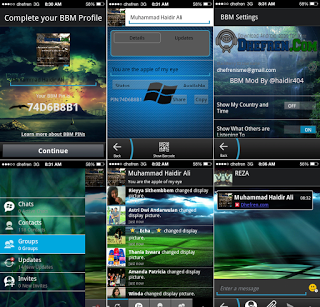 BBM MOD Dark Windows