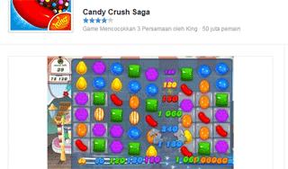 permainan candy crush saga banyak populer di facebook