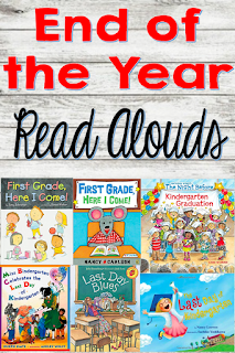 End of the year books for kindergarten and first graders.  Fun read alouds to end the school year with.  Great for writing activities.