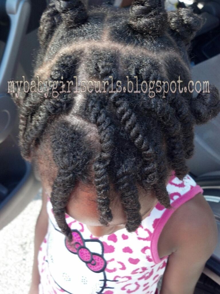 My Baby Girls Curls Bantu Knots With Two Strand Twists