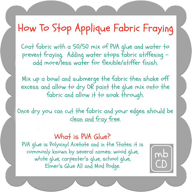 How To Stop Applique Fabric Fraying