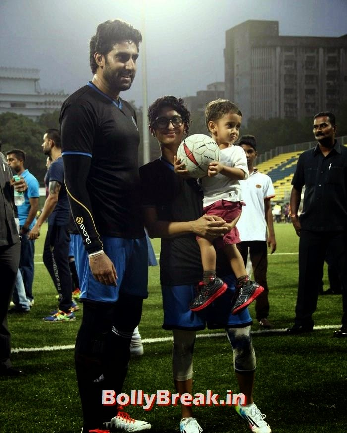 Abhishek Bachchan, Kiran Rao,  Azad Rao Khan, Bollywood Celebs play football match for Aamir khan's daughter Ira Khan