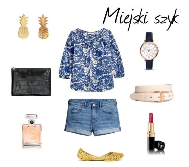 Urban chic, miejski strój, miejska stylizacja, kolczyki z ananasem, Coco Chanel Mademoiselle