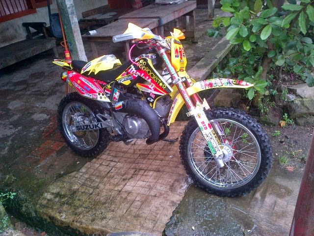 contoh modifikasi motor trail adventure