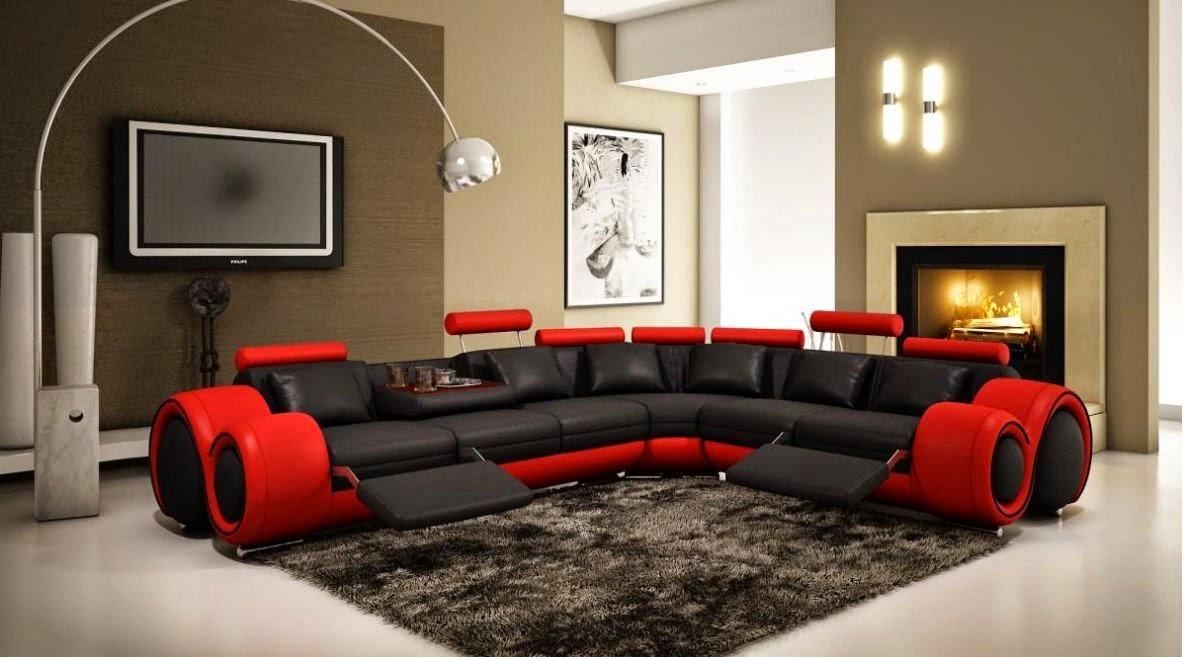 VIG Furniture Red Leather Recliner Sofa Uk