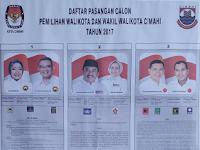 Nomor Urut Pasangan Calon Wali Kota dan Wakil Wali Kota Pilkada Cimahi 2017