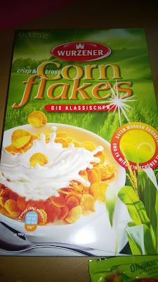 Cornflakes in der Verpackung