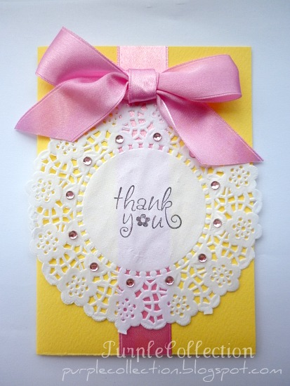 Thank You Cards, ribbon