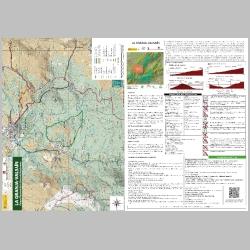 Mapa de rutas recomendadas del sector La Granja-Valsain