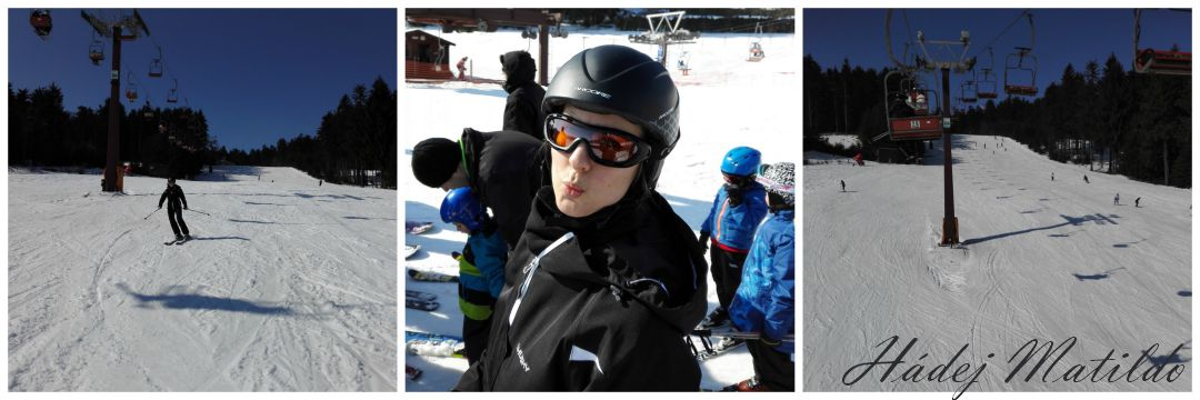 lyžování, zima, opět na lyžích, půl dne volna