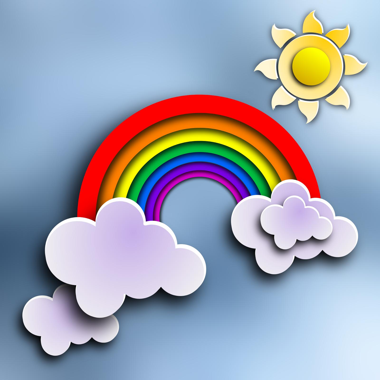 картинка тучка солнце радуга птичка функциональностью кованые мостики