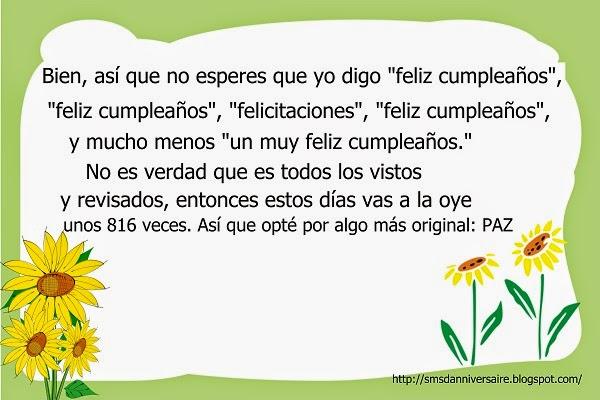 citation anniversaire en espagnol