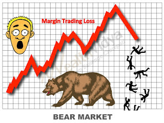Picture shows a shocked margin trader staring at losses